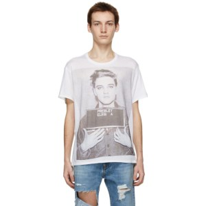 R13 White Elvis Mugshot Boy T-Shirt