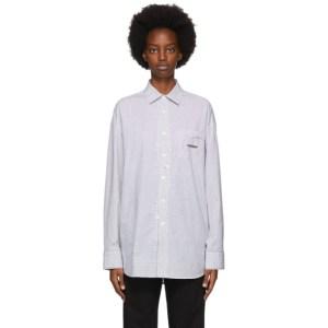ADER error Black and White Cinder Pocket Shirt