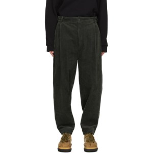 House of the Very Islands Green Corduroy Entrepreneur Trousers