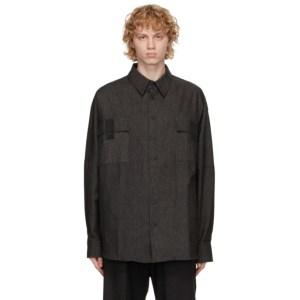 House of the Very Islands Black Denim Big Shirt