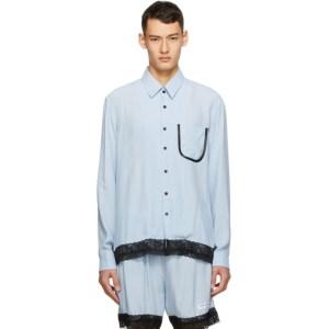 Daniel W. Fletcher Blue Lace Trim Shirt