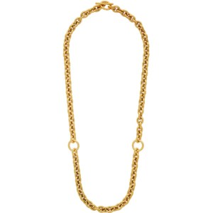 All Blues Gold Polished Triple Necklace