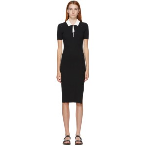 rag and bone Black Cadee Polo Dress