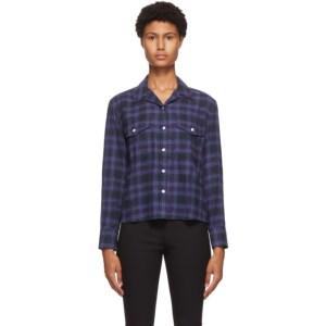 rag and bone Blue Plaid May Shirt