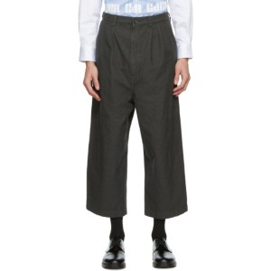 Comme des Garcons Homme Grey Twill Trousers
