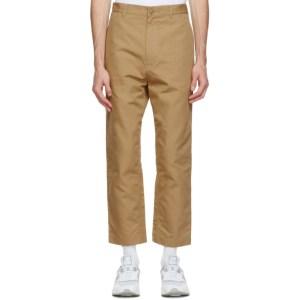 Comme des Garcons Homme Khaki Cotton Oxford Trousers
