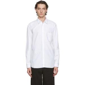 Comme des Garcons Homme White Contrast Stitch Shirt