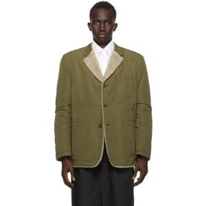 Comme des Garcons Homme Reversible Khaki and Beige Nylon Tussah Blazer