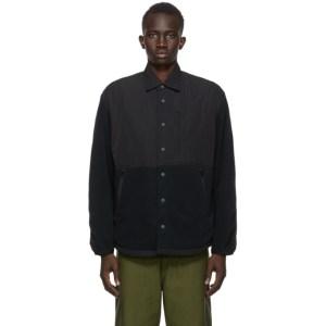 Comme des Garcons Homme Black Rayon Fleece Jacket