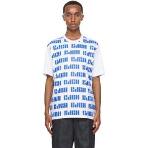 Comme des Garcons Homme White Logo Pattern T-Shirt