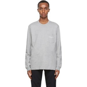 Comme des Garcons Homme Grey Logo Long Sleeve T-Shirt