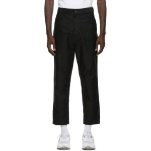 Comme des Garcons Homme Black Cotton Moleskin Trousers