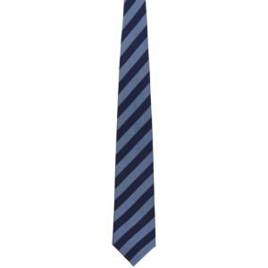 Comme des Garcons Homme Deux Blue Silk Stripe Tie