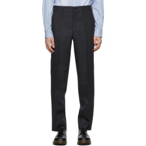 Comme des Garcons Homme Deux Grey Wool Yarn-Dyed Trousers