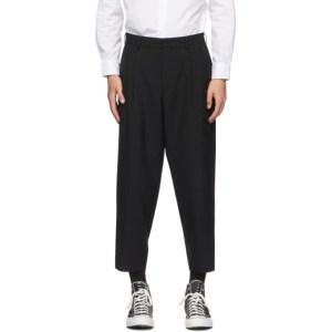 Comme des Garcons Homme Deux Black Tropical Wool Trousers