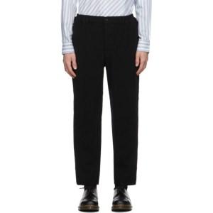 Comme des Garcons Homme Deux Black Wool Serge Thick Trousers