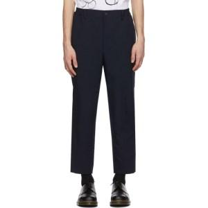 Comme des Garcons Homme Deux Navy Gabardine Trousers