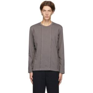Comme des Garcons Homme Deux Grey Panelled Long Sleeve T-Shirt