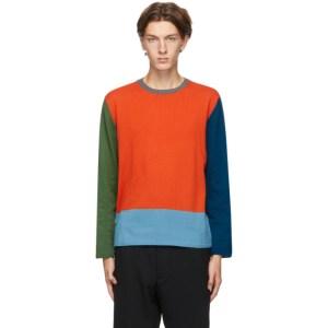 Comme des Garcons Homme Deux Multicolor Colorblock Sweater