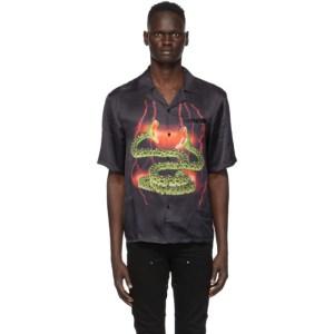 Stolen Girlfriends Club SSENSE Exclusive Black Lightning Hawaiian Short Sleeve Shirt