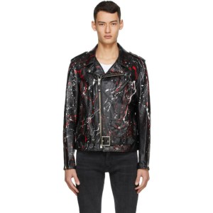 Schott Black and Red Leather Truth Jacket