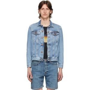 Nudie Jeans Blue Denim Faded Jerry Jacket