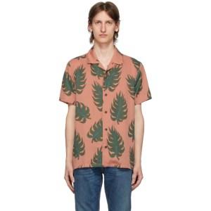 Nudie Jeans Pink Leaf Print Arvid Shirt