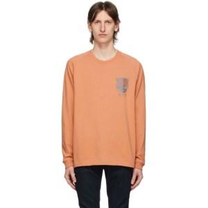 Nudie Jeans Orange Misfit Creature Bodie Long Sleeve T-Shirt