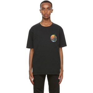 Nudie Jeans Black Uno Cactus T-Shirt