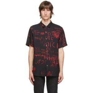 Ksubi Black and Red Scribbles Shirt