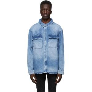 Ksubi Blue Snakebite Shirt