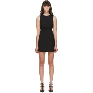 RED Valentino Black Cady Bow Tech Dress