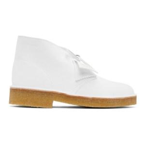 Clarks Originals White Suede Desert Boots
