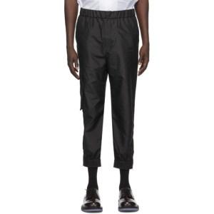 Tibi Black Taffeta Cargo Pants