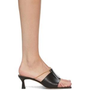 Wandler Black Isa Kitten Heeled Sandals
