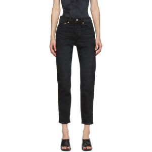 Levis Black Wedgie Fit Ankle Jeans