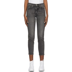 Levis Grey Wedgie Fit Ankle Jeans