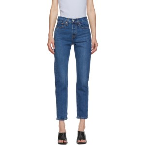 Levis Blue Wedgie Fit Ankle Jeans