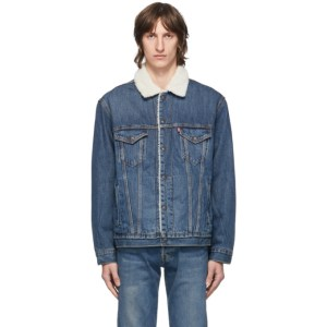 Levis Blue Denim and Sherpa Vintage Fit Trucker Jacket