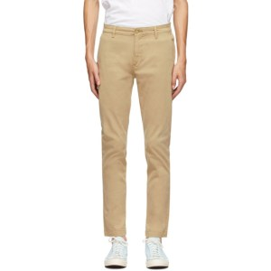 Levis Beige Tapered Standard Trousers