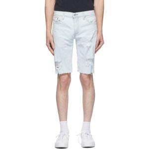 Levis Blue Denim 511 Slim Cut-Off Shorts