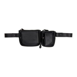 Feng Chen Wang Black Leather Belt Bag