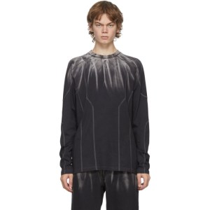 Feng Chen Wang Black and Grey Tie-Dye Long Sleeve T-Shirt