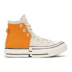 Feng Chen Wang Orange and Off-White Converse Edition 2-In-1 Chuck 70 High Sneakers