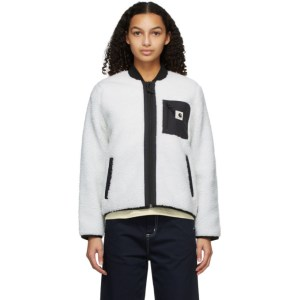 Carhartt Work In Progress White Janet Bomber Jacket