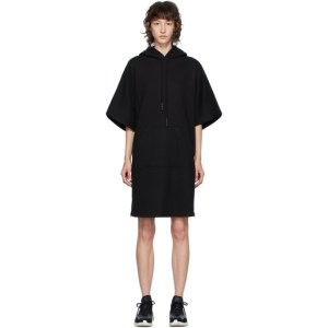 McQ Alexander McQueen Black McQ Swallow Flag Hoodie Short Dress