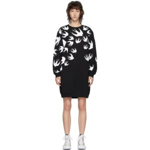 McQ Alexander McQueen Black McQ Swallow Sweater Short Dress
