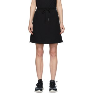 McQ Alexander McQueen Black McQ Swallow Logo Tape Short Skirt