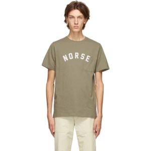 Norse Projects Khaki Niels Ivy Logo T-Shirt