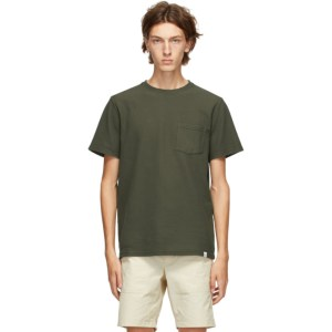 Norse Projects Green Niels Pigment Dye T-Shirt